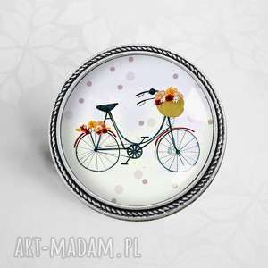 hand made broszki retro bike - broszka