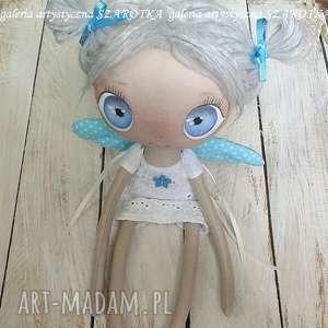 anioŁek lalka - dekoracja tekstylna ooak, aniołek, szmaciana, na prezent