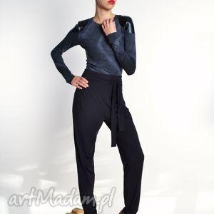 Petra - eleganckie spodnie marchewy, jersey, spodnie, marchewy