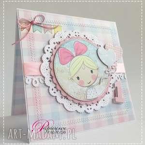hand made scrapbooking kartki kartka urodzinowa na roczek dla dziewczynki #1