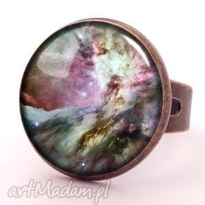 orion nebula - pierścionek regulowany egginegg, prezent, galaxy