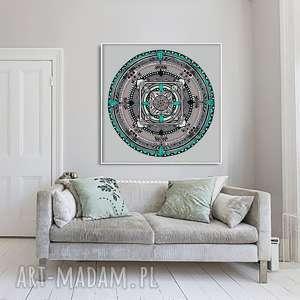 ręcznie zrobione plakaty mandala 50x50cm