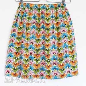 spódnice ostatnia // spódnica z japońskiej bawełny w kwiaty, promocja