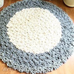 piękny dywan ręcznie wykonany 120 cm, dywan, dywanik, chodnik, dywany
