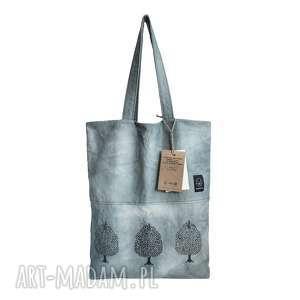 ręcznie zrobione na ramię torebka ręcznie farbowana z autorskim wzorem