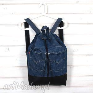 Prezent Plecak Worek Denim 001, plecak, worek, denim, dżinsowy, prezent, pojemny