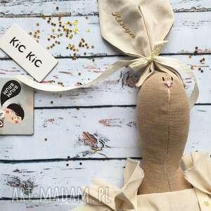 ślub pani królik z wyszytym imieniem, prezent, dziewczynki, urodziny, narodziny