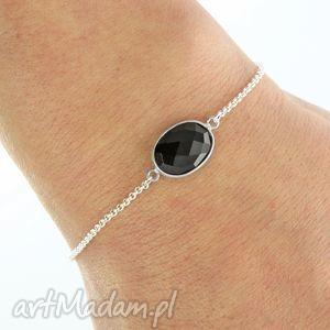 autorskie bransoletki my precious - black onyx oval