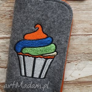filcowe etui na telefon, etui, smartfon, filcowe, cupcake, prezent, pokrowiec