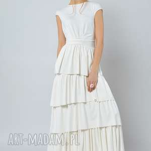 cristina botanica - suknia ślubna z falbanami, suknia, ślubna, falbany sukienki