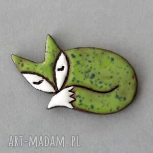 lisek-broszka ceramiczna, skandynawski, minimalizm, design, spryciara, prezent