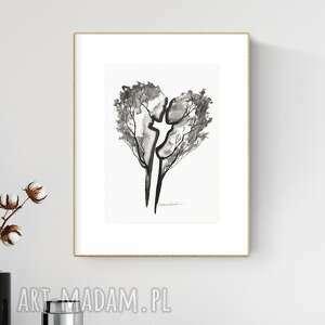 ART Krystyna Siwek grafika A4 wykonana ręcznie, abstrakcja, obraz