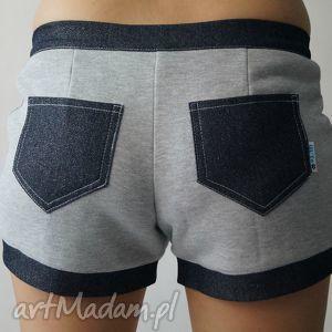 spodnie sweet shorts rozm l, kieszenie, jeansowe, dresowe, sportowe