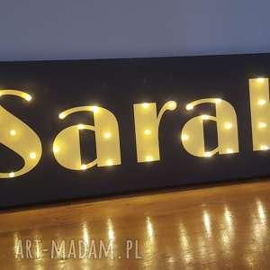 neon z imieniem, obraz led, personalizowany prezent na urodziny, 18, pokój nastolatki