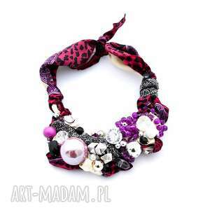 ręcznie wykonane naszyjniki ultra violet naszyjnik handmade