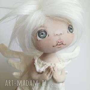 ANIOŁEK dekoracja ścienna - figurka tekstylna ręcznie szyta i malowana, aniołki