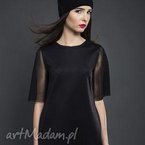 tuniki czarna tunika, asymetryczna, valentimo