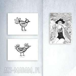 3 plakaty a4, zestaw grafik biało-czarnych, skandynawski styl, ładne