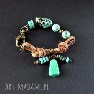 boho chic bransoletka z zawsze modnymi turkusami oryginalna unikatowa super
