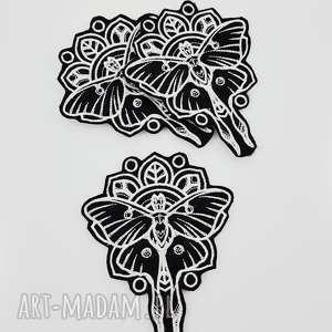 naszywka Mystique - Luna Moth , naszywka, motyl, haft, ćma, haftowana, filc