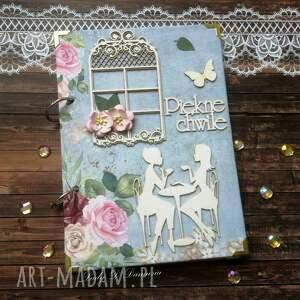 stylowy paryski notatnik /pamiętnik vintage oraz kartka, notes, życzenia