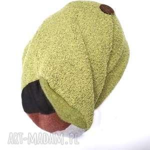 ręcznie robione czapki czapka damska dzianina wełniana z wełną dresowa