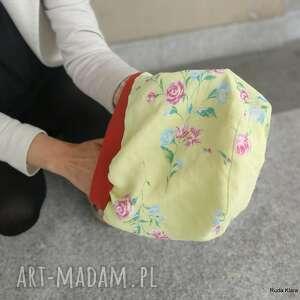 czapka damska szyta z tkaniny box i1- na podszewce, rozmiar uniwersalny
