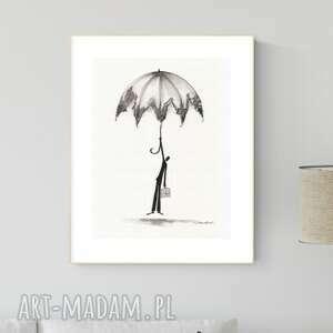 grafika 30x40 cm wykonana ręcznie, abstrakcja, obraz do salonu, 2793732