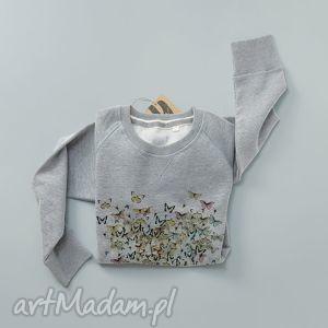 bluzy motyle serce bluza z nadrukiem, longsleeve, print