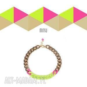 oryginalny prezent, mitsu neon magnet vol2a, łańcuch, neon, green, zielony, różowy