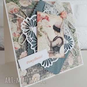 Kartka Urodzinowo/Imieninowa, urodziny, imieniny, kartka, kartki, vintage, życzenia