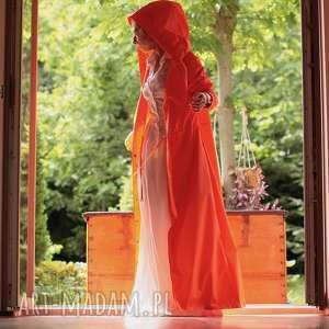 handmade płaszcze płaszcz przeciwdeszczowy pomarańczowy