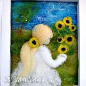 słoneczniki obraz z kolekcji die verzauberte welt - zielone rękodzieło