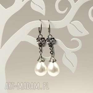 kolczyki srebrne emma z perłami seashell a796-kol, kolczyki