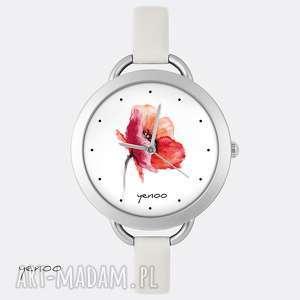 hand made zegarki zegarek - mak, kwiat