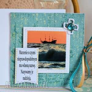 kartka - marzenie o czymś nieprawdopodobnym, kartka, marzenia, urodziny, morze