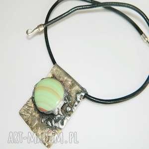 wisior z alpaki, wisior, zielony, unikalna-biżuteria, unikatowa-biżuteria
