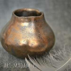 Małe złote matero kubki ziemia zu yerba mate, oreintalne