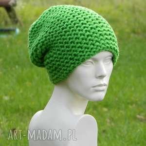 czapki zielona na prawo grubaśna zimowa czapa, grubaśna, ciepła, kolor