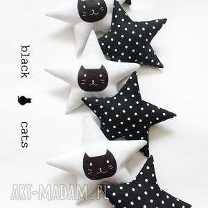 black cats - girlanda, gwiazdki, kot koty