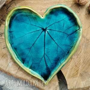 ręcznie wykonane ceramika ceramiczne serce, talerz, patera (c232)