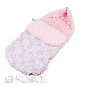 dla dziecka śpiworek łapacze róż, śpiworek, fotelik, wózek, sanki