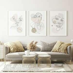 zestaw 3 plakatów #2 b1 - 70x100 cm, prezent, dekoracje, mieszaknie