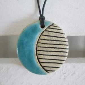 prezent na święta, wisiorek turkusek, ceramiczny, wisior, prezent, wisiorek