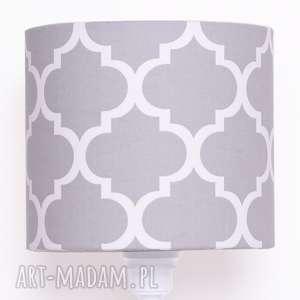 abażur fresh grey 25x25x22cm od majunto, abażur, koniczyna, marokański