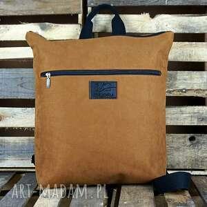 plecak xl waterproof rudy, plecak, nubuk syntetyczny, produkt polski