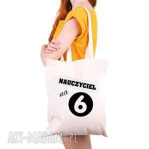 hand-made torba eko na zakupy dla nauczyciela nauczyciel 6 - dzień