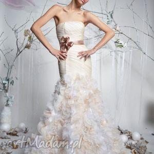 święta prezent, nadia - suknia ślubna, długa, syrena