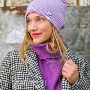 wywijana dwustronna logo kolorowe lavendowe love, czapka dwustronna