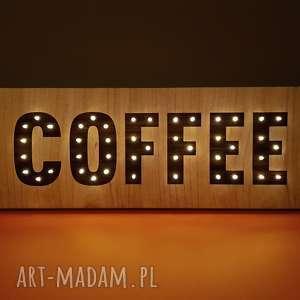 napis led coffee kawa obraz litery neon dekoracja kawiarni baru kuchni